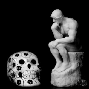 The Thinker and Death, by Bel17b (Deviant Artist). Image used under Creative Commons.